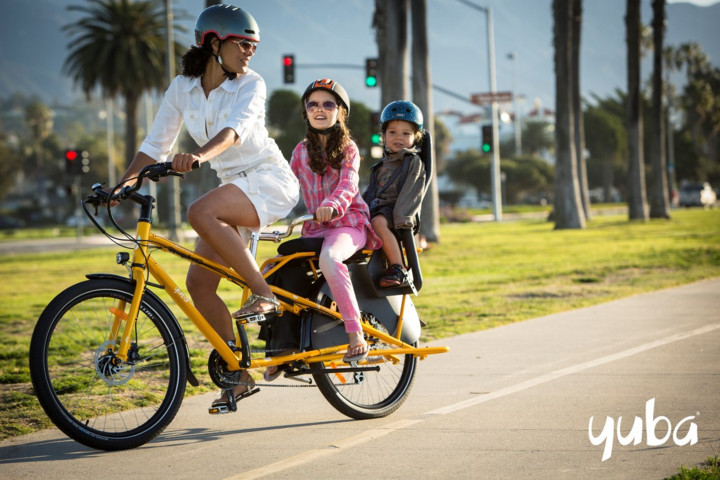 Great fun with the whole family with our family bicycle rental.